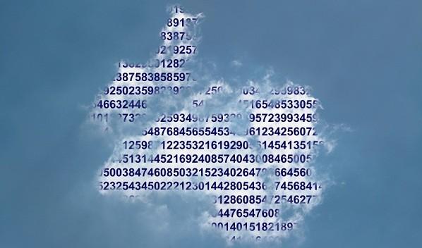 Numbers in cloud