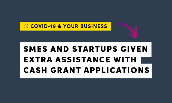 Additional grants to support SMEs and startups