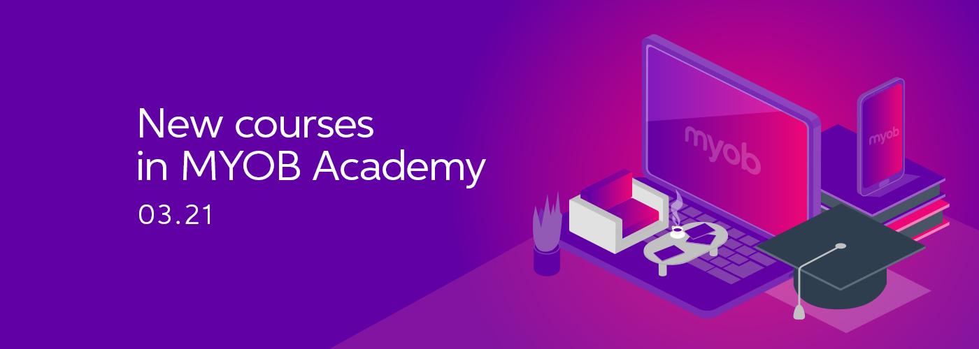 Updates for MYOB Academy